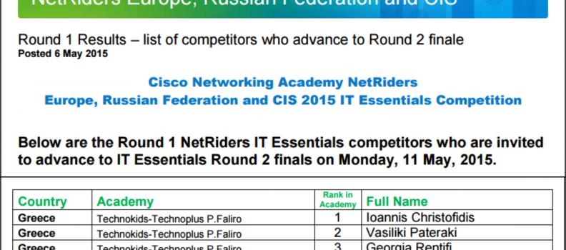 Cisco NetRiders: 4 Πρώτες Θέσεις στο Πανελλήνιο Πρωτάθλημα